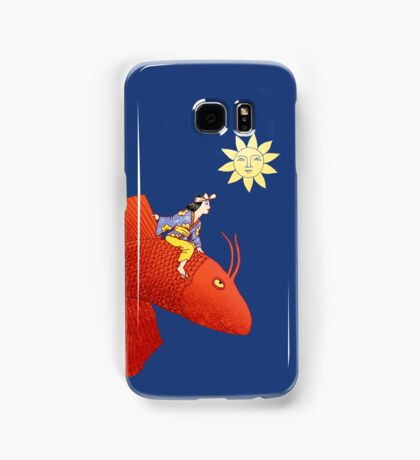 Girl on Flying Fish Samsung Galaxy Case/Skin