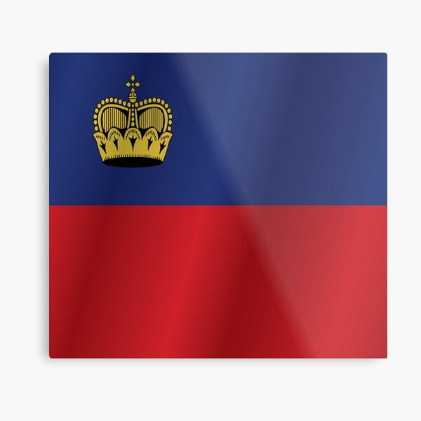 Liechtenstein flag Metal Print