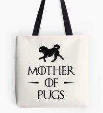 Mother of Pugs - Black Tote Bag