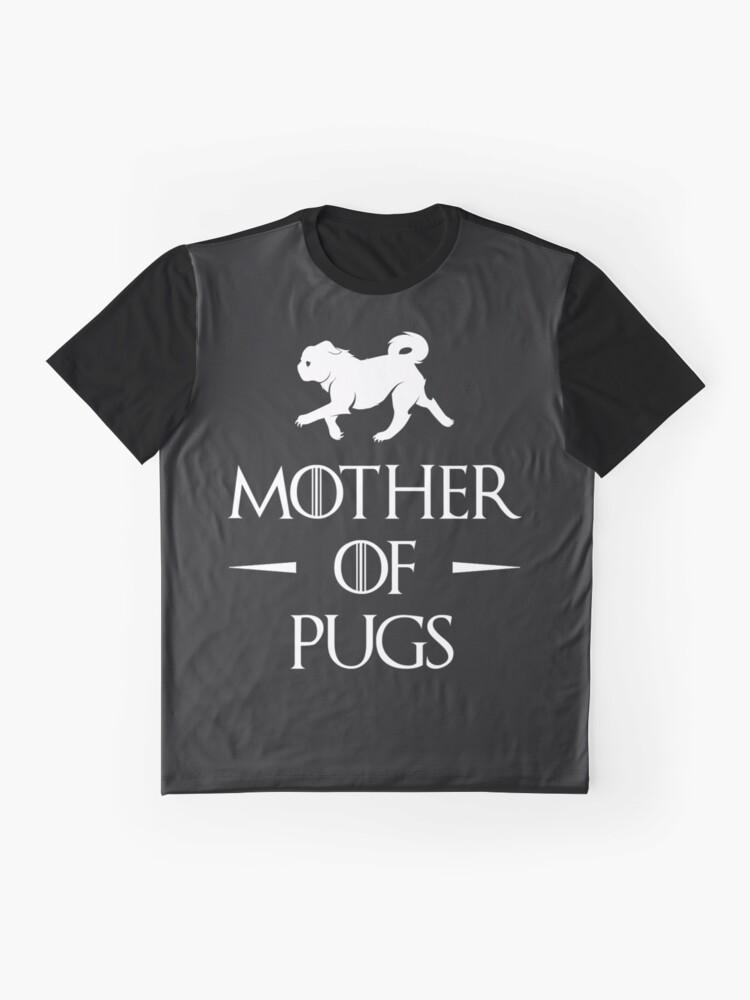 Alternative Ansicht von Mutter der Möpse - Weiß Grafik T-Shirt