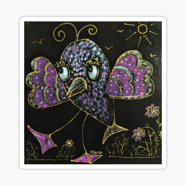 La demoiselle Poissonneau fête le printemps Sticker