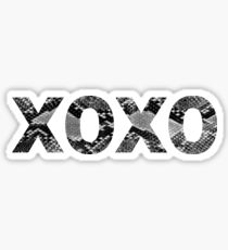 XOXO Snakeskin Sticker