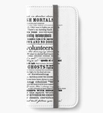 I am your host, your Ghost Host...(Black) iPhone Wallet/Case/Skin