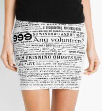 I am your host, your Ghost Host...(Black) Mini Skirt