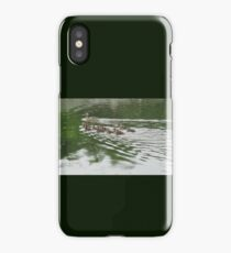 Eleven Duckling's in the Rain iPhone Case