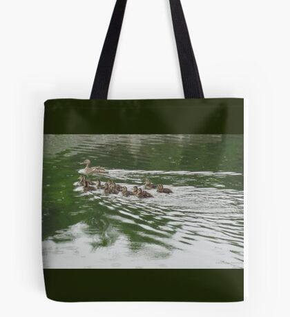 Eleven Duckling's in the Rain Tote Bag