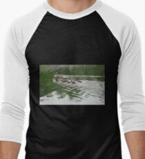 Eleven Duckling's in the Rain Men's Baseball ¾ T-Shirt