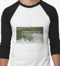 Eleven Duckling's in the Rain Men's Baseball ¾ T-Shirt