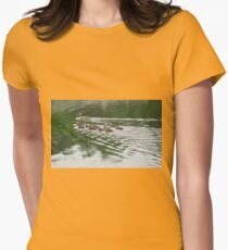Eleven Duckling's in the Rain Women's Fitted T-Shirt