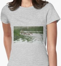 Eleven Duckling's in the Rain Womens Fitted T-Shirt