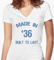 1936 Built To Last Women's Fitted V-Neck T-Shirt