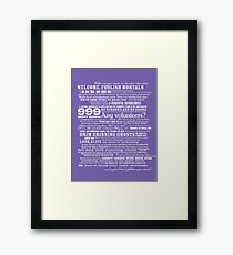 I am your host, your Ghost Host...(White) Framed Print