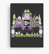 Is This Small World Actually Stretching? (for Darker Rides) Canvas Print