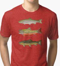 Camiseta de tejido mixto Tríada de trucha