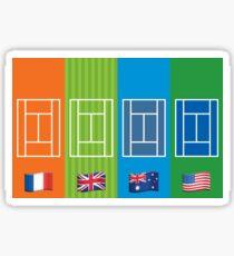 Country Emoji Grand Slam Courts Sticker