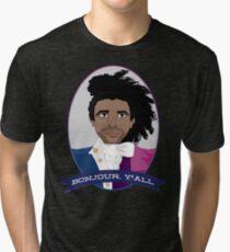 Camiseta de tejido mixto Bonjour, ¡todos!