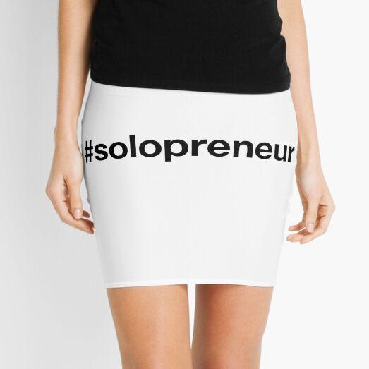 SOLOPRENEUR Hashtag Mini Skirt