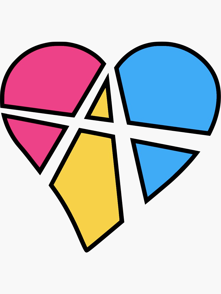 Pansexual Relationship Anarchy Heart (White) by polyphiliashop