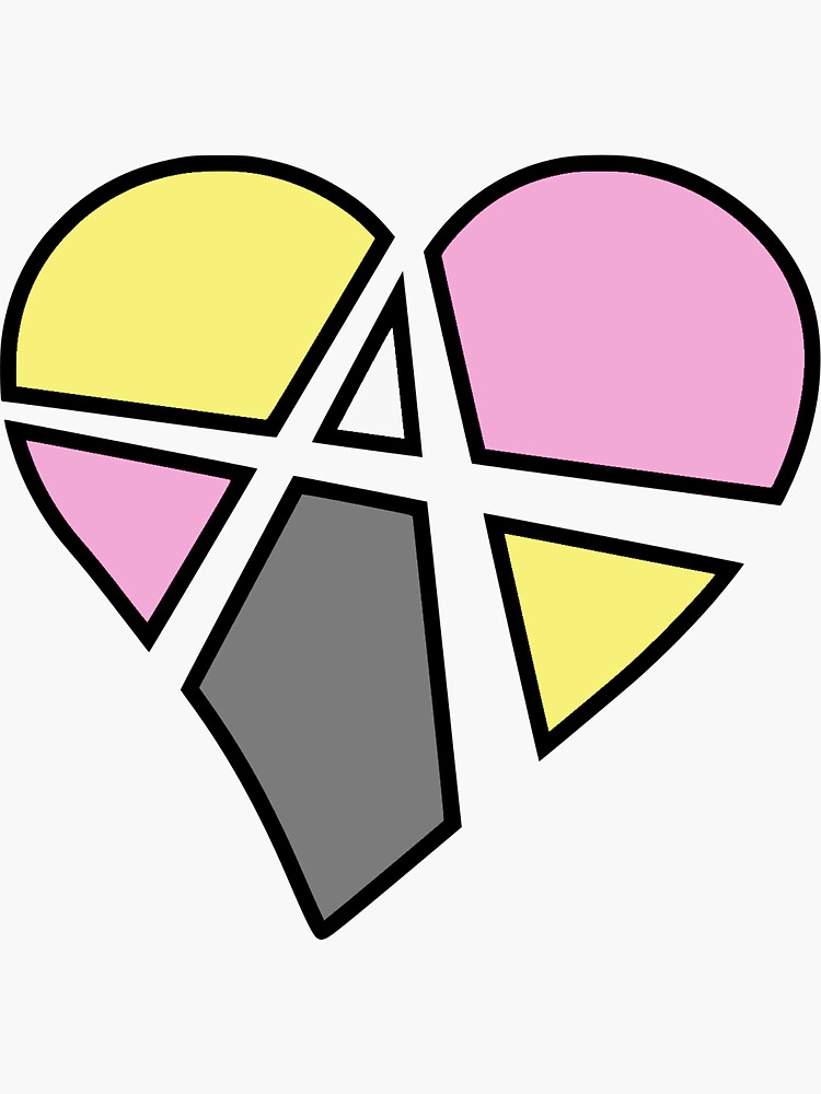 Queerplatonic Relationship Anarchy Heart (Black) by polyphiliashop