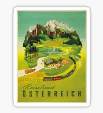 Vintage poster - Austria Sticker