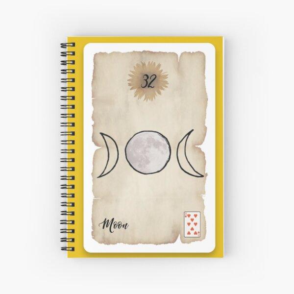 Lenormand Moon Card - Hand Drawn Spiral Notebook