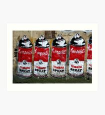 Campbells Tomato Spray - Banksy Art Print