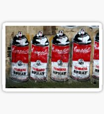Campbells Tomato Spray - Banksy Sticker