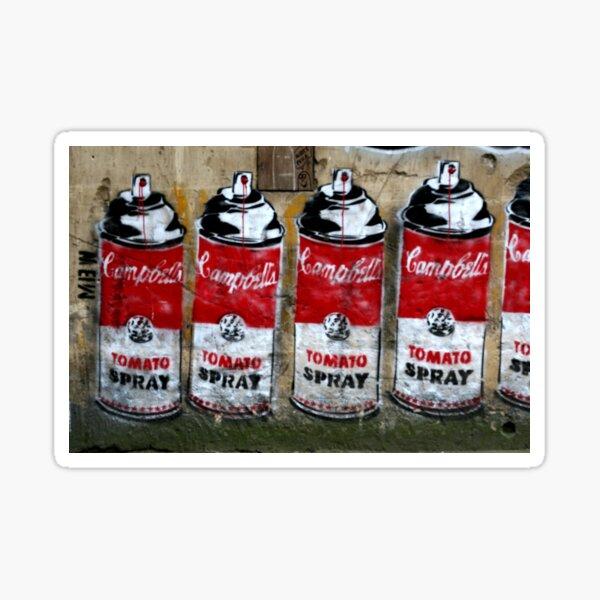 Campbells Tomato Spray - Banksy Sticker
