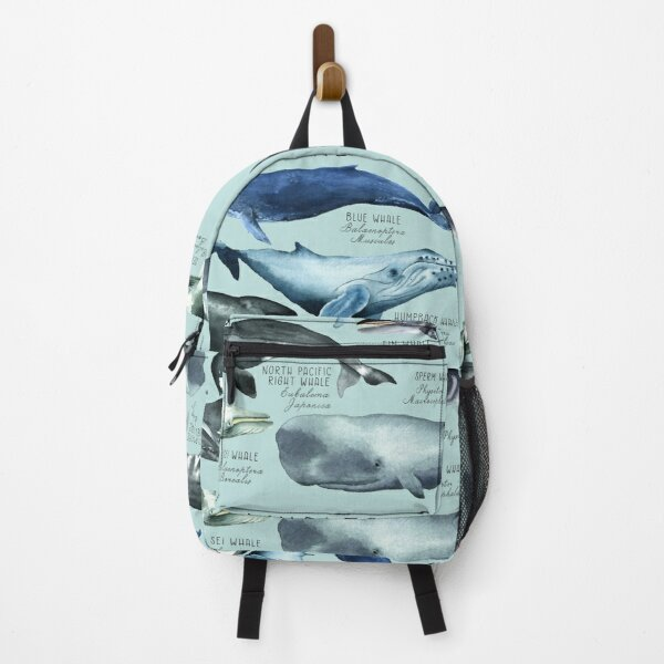 Whales Chart, Old School Style Backpack