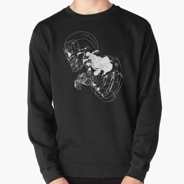 Crâne de ninja (option 02 blanc) Sweatshirt épais