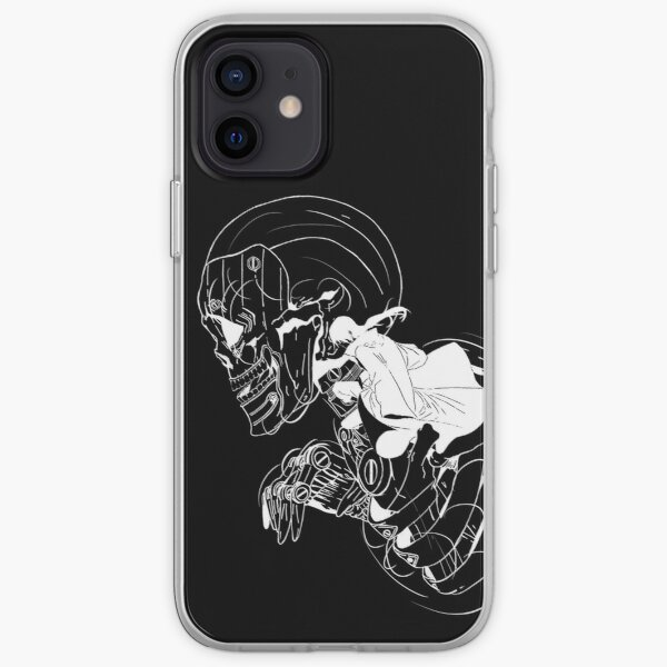 Crâne de ninja (option 02 blanc) Coque souple iPhone