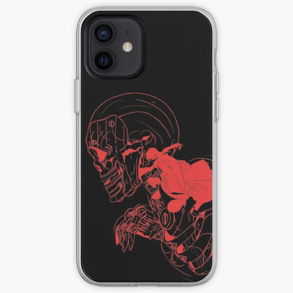 Crâne de ninja (option 03 rouge brique) Coque souple iPhone