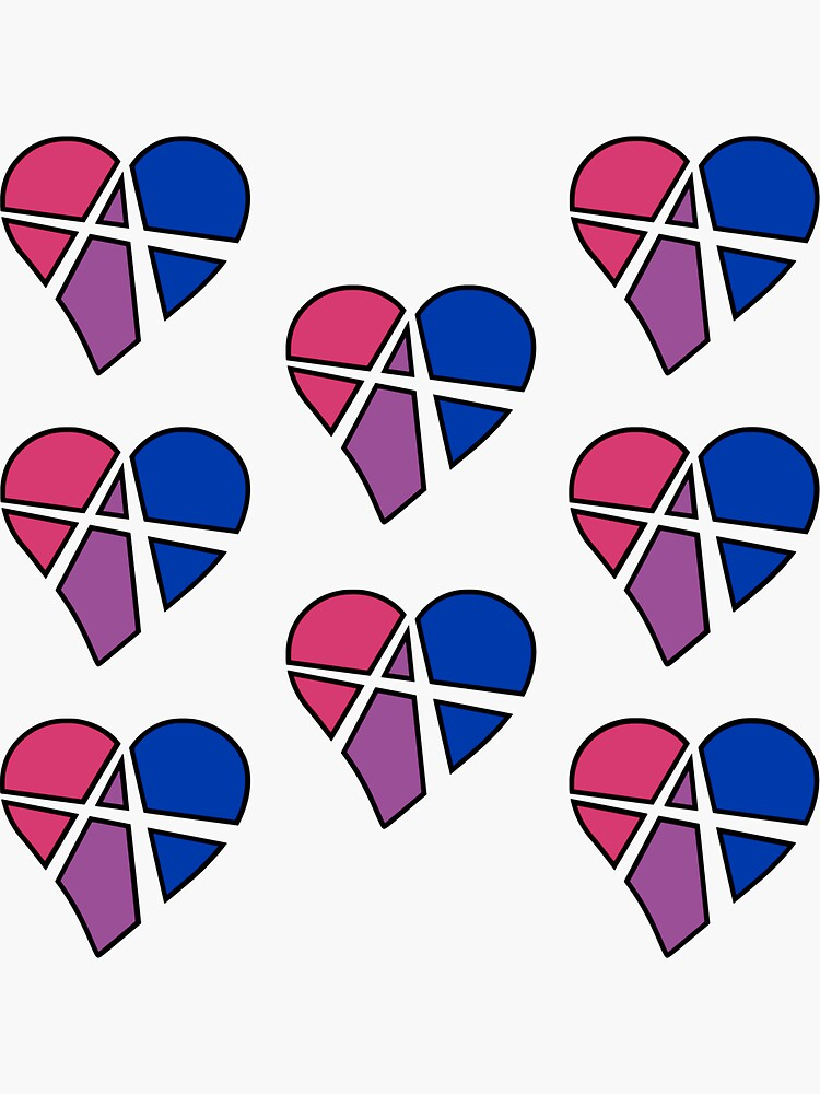 8x Bisexual Relationship Anarchy Heart by polyphiliashop