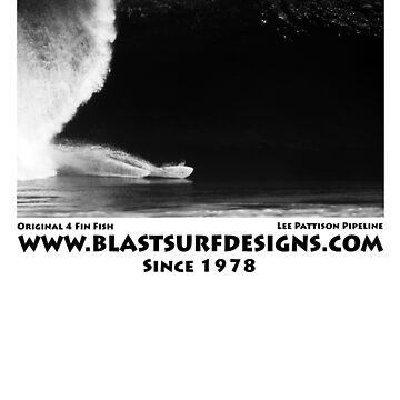 Kneeboard Surfing Pipeline North Shore Hawaii by depoochai7
