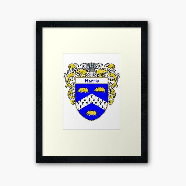 Harris Coat of Arms/Family Crest Framed Art Print