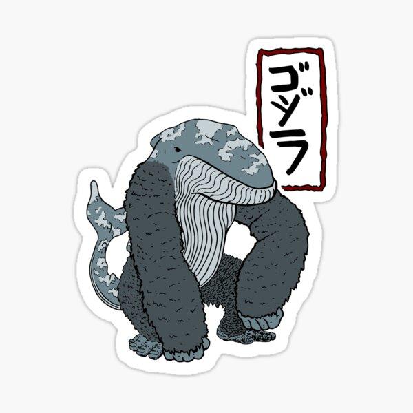 Gorilla-Whale Sticker