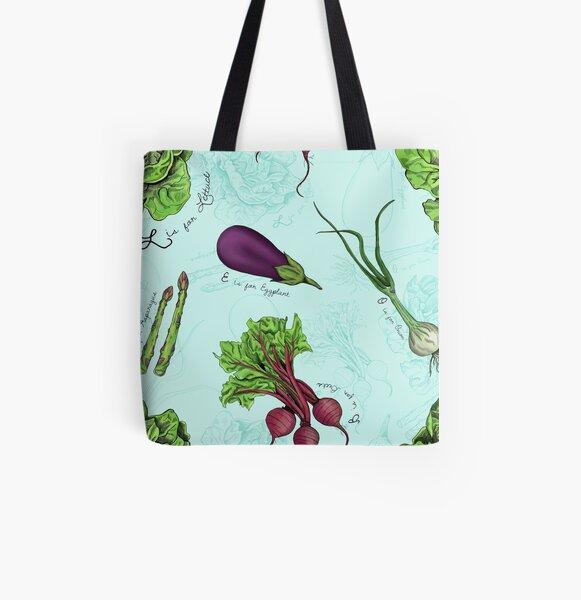 Alphabet Vegetables All Over Print Tote Bag