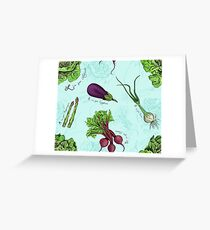 Alphabet Vegetables Greeting Card