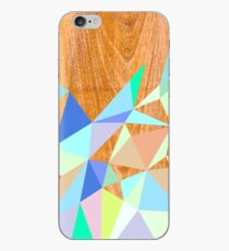 Wooden Geo Aqua iPhone-Hülle & Cover