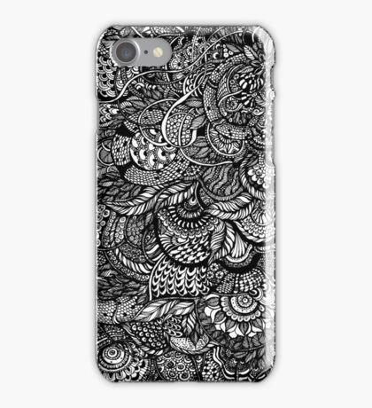 Hand drawing black and white zentangle pattern iPhone Case/Skin