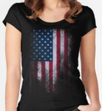 USA America Flag Women's Fitted Scoop T-Shirt