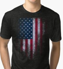 USA America Flag Tri-blend T-Shirt