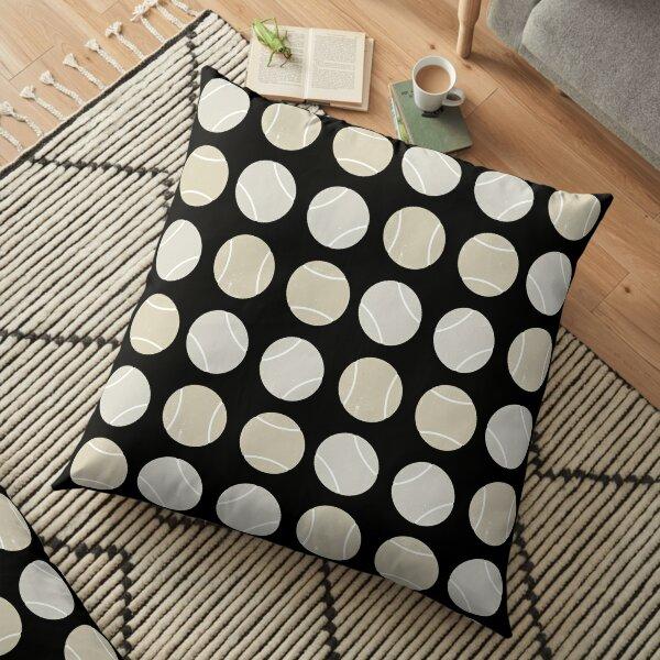 Padel or tennis balls pattern neutrals Floor Pillow