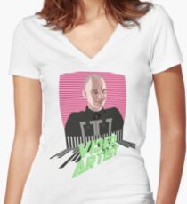 Knox Harrington, The Video Artist Women's Fitted V-Neck T-Shirt