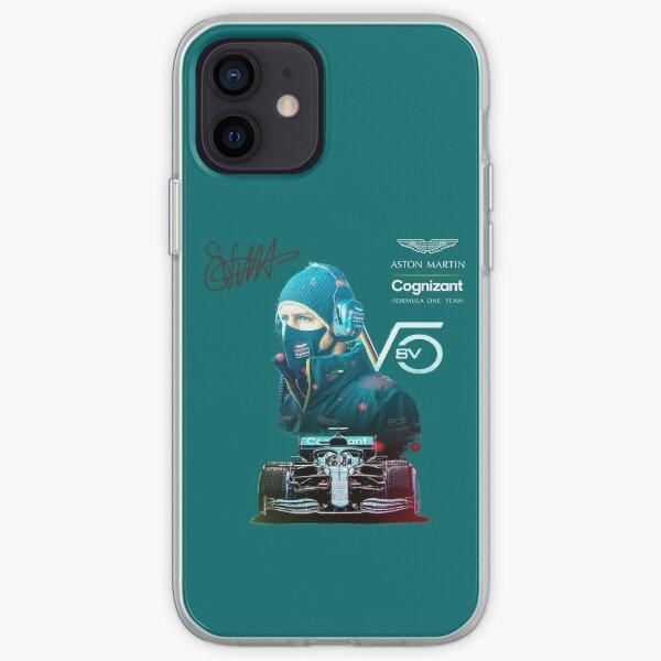 Grand Prix, F 1 2021, 5, Aston Martin F1 2021, Vettel F1 Aston Martin Coque souple iPhone