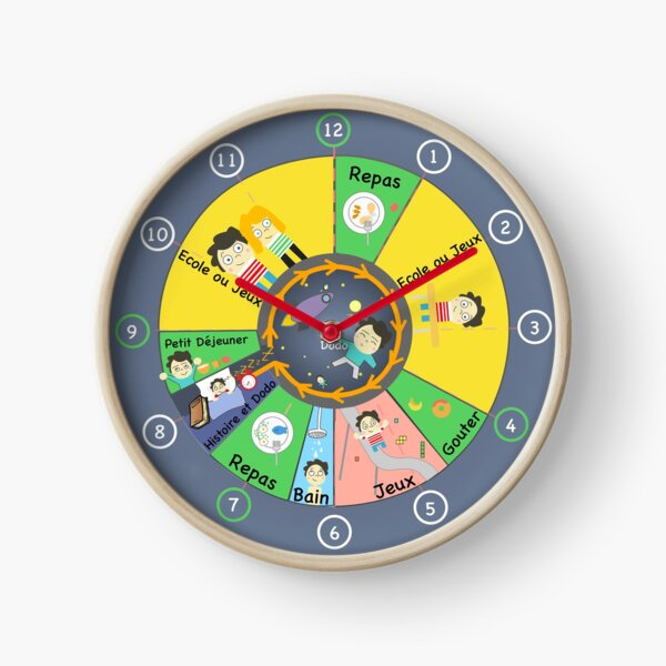 12H Educational Kids Clock Clock