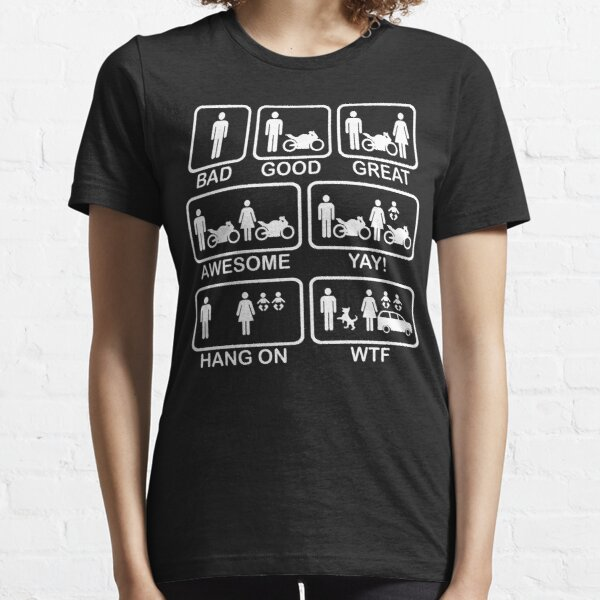 Funny Motorbike T Shirt Essential T-Shirt