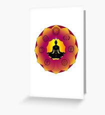 Yoga Lotus Greeting Card