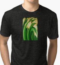 Stylized Yellow Tulips Tri-blend T-Shirt