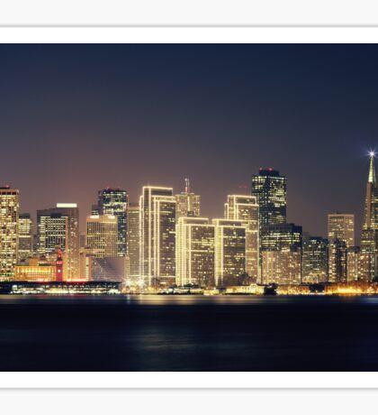 San Francisco Holiday Skyline IV Sticker